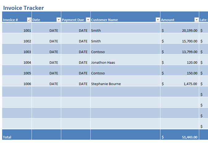 Invoices tracker
