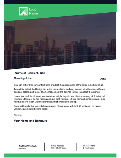 Business letter (Green Forest design)