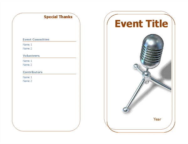 template for event program