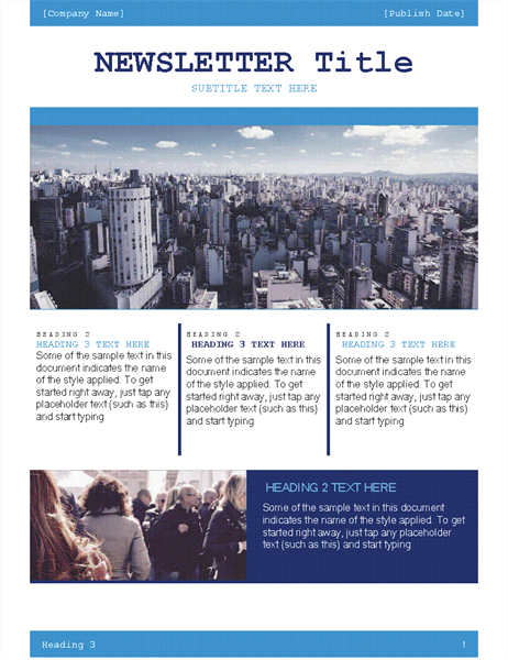 sample company newsletters thevillas co