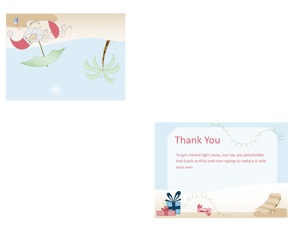 Thank you card (Summer Santa design)