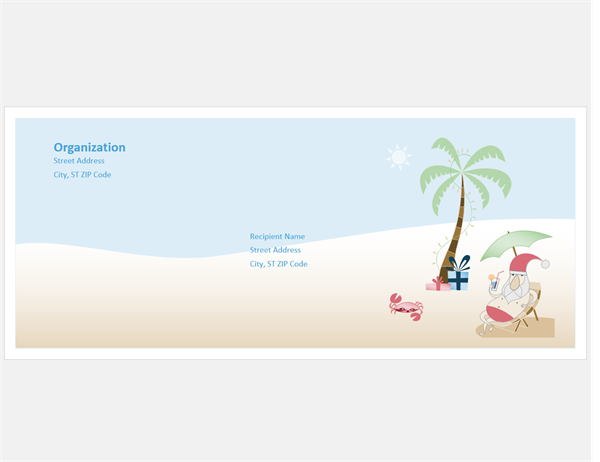 Envelope (Summer Santa design)