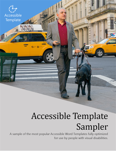 Accessible Word template sampler