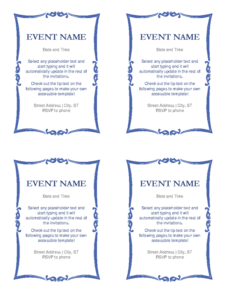 Event invitation accessibility guide
