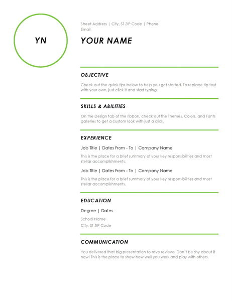 resume modern design - Download Template Resume