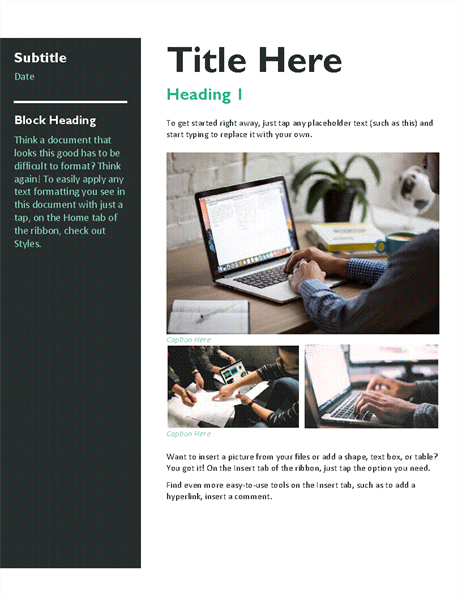 Newsletter (bold) - Office Templates