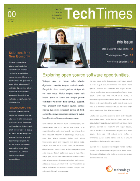 Technology business newsletter 4 pages wajeb Gallery