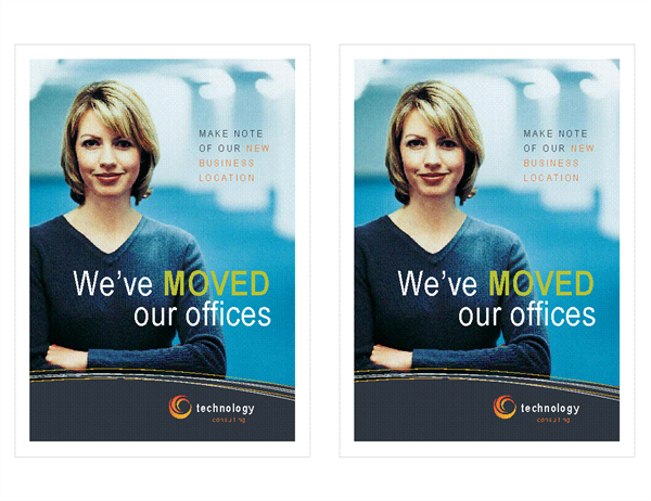 Technology Business Moving Announcement 2 Per Page