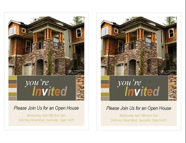 Real Estate Open House Invitation Per Page - Real estate open house invitation template