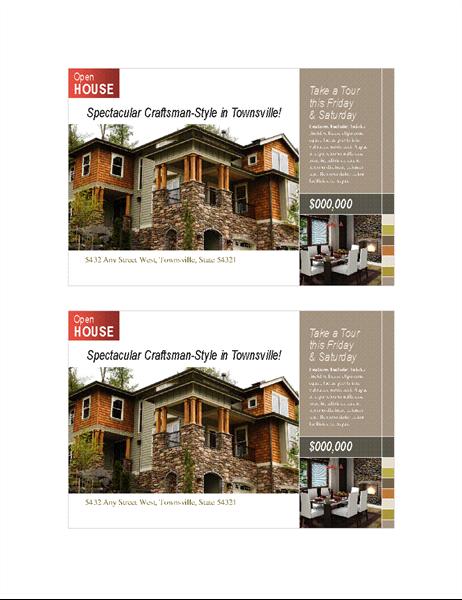 Real estate postcard (2 per page)