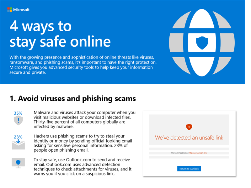 4 ways to stay safe online