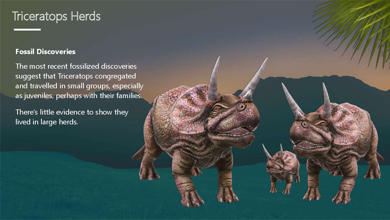 Triceratops - The three horned dinosaur