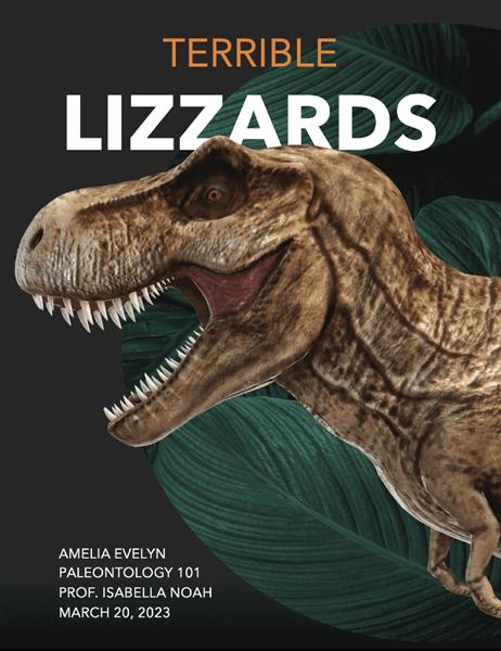 School report with 3D models