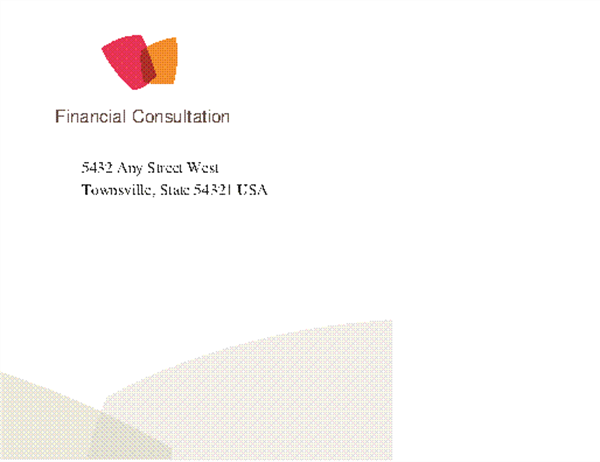 Financial business envelope