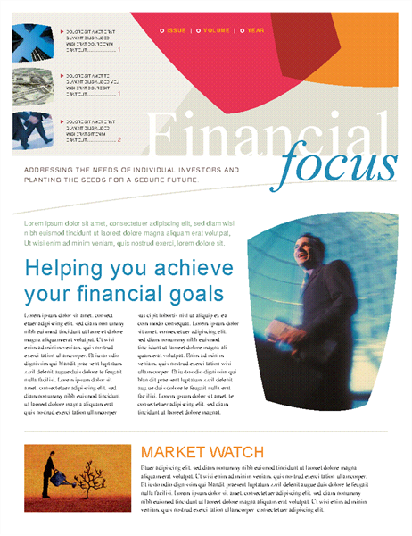 Financial business newsletter (2 pages)