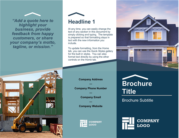 Brochures office builder brochure wajeb Image collections