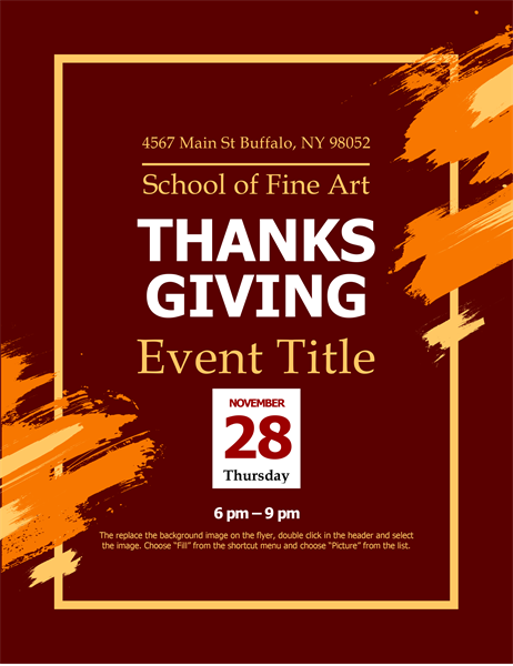 Modern Thanksgiving flyer