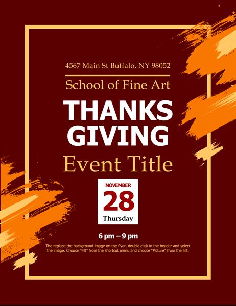 Modern Thanksgiving flyer