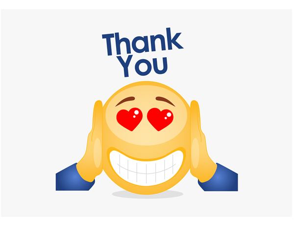 Emoji thank you card