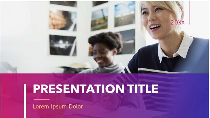 Modern bold sophisticated presentation