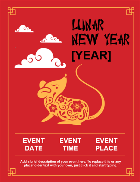Lunar New Year flyer