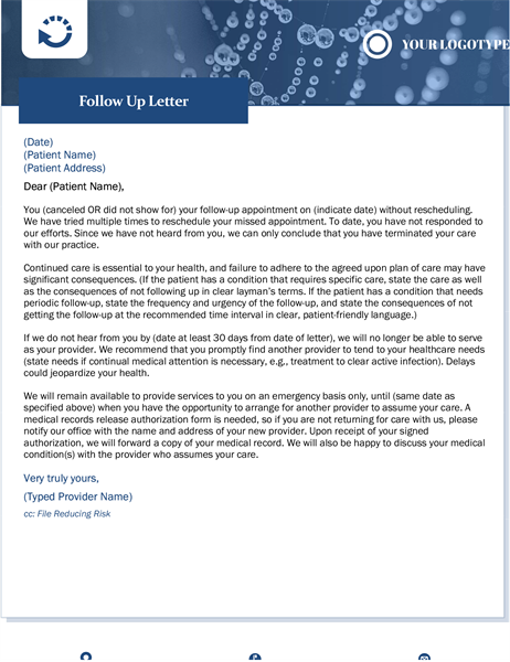 Follow up letter healthcare