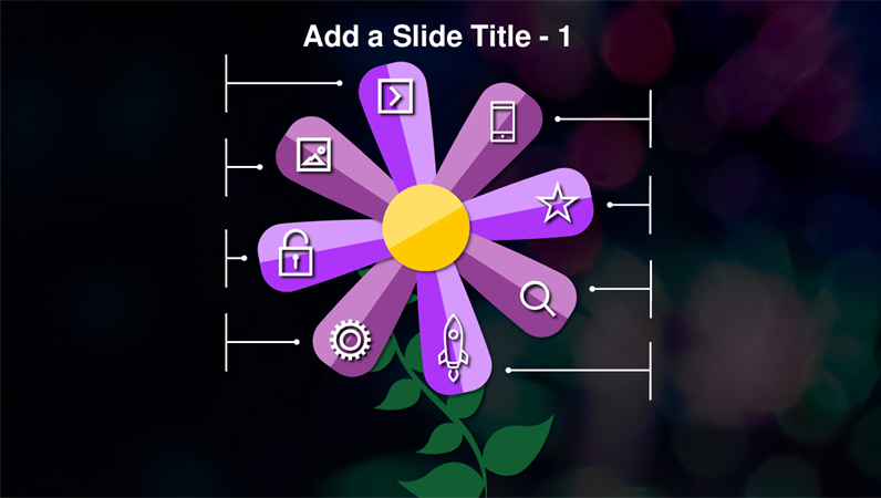 Animated flower slide