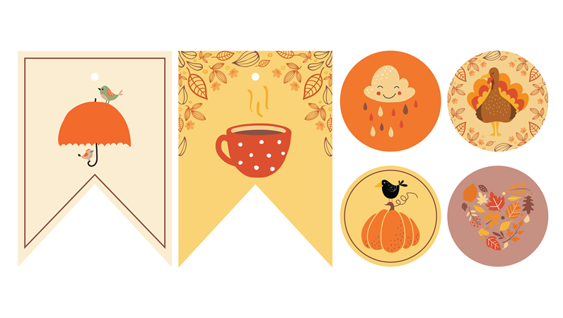 Autumn party printables