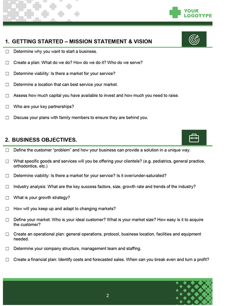 Healthcare startup checklist