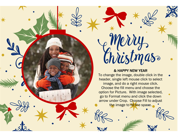 Ornament frame holiday photo card