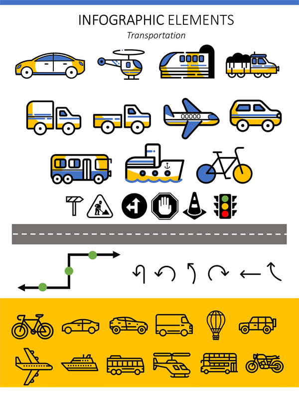 Infographic elements transportation