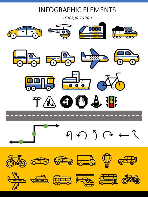 Infographic elements transportation