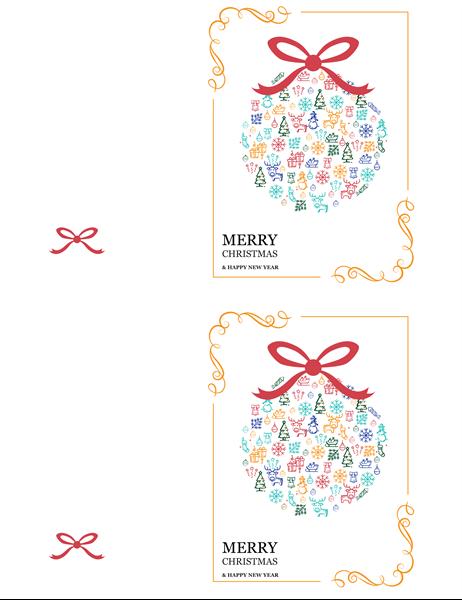 Festive ornament holiday card