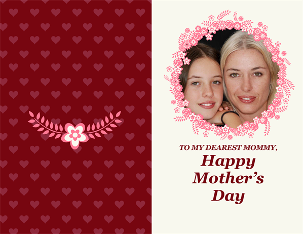 Flower border Mother's Day card