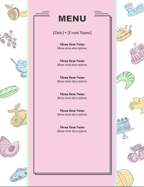 Retro menu