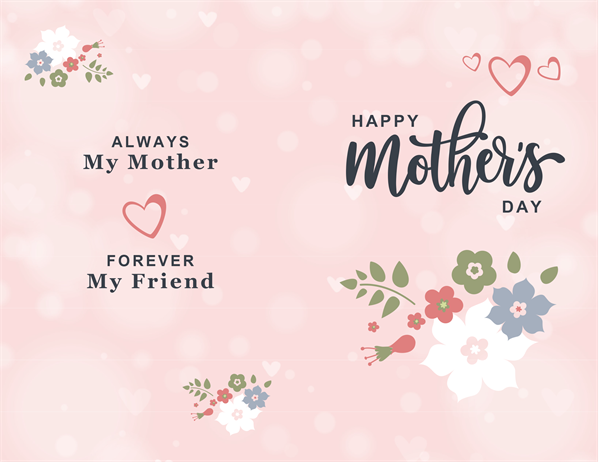 Pretty in pink Mother's Day card
