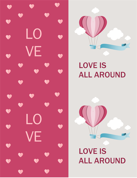 Love is all around Valentine's card