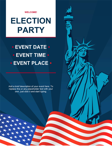 Election party flyer