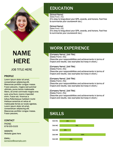 resume cover letter  chronological