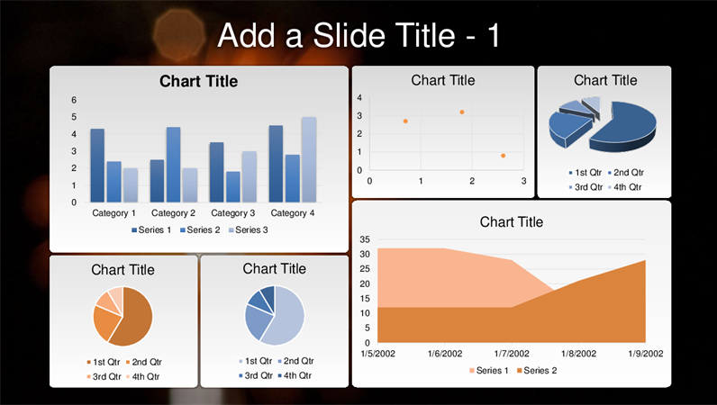 Six chart dashboard