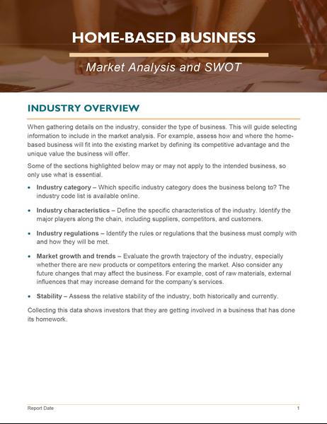 Análisis de mercado de negocios caseros y DAFO