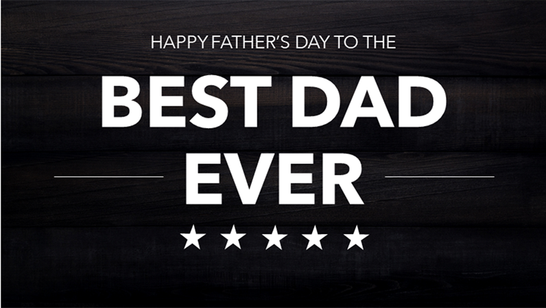 Typographic Father's Day cards