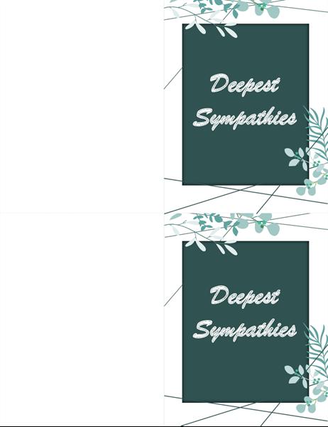 Green sympathy card