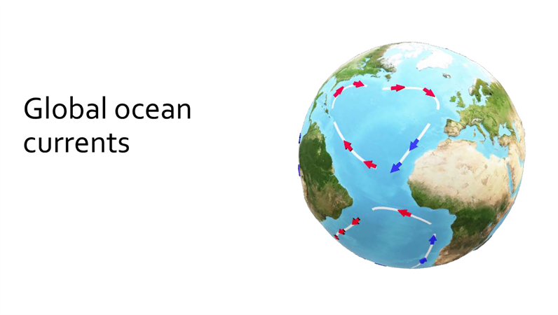 Global ocean currents 3D tutorial