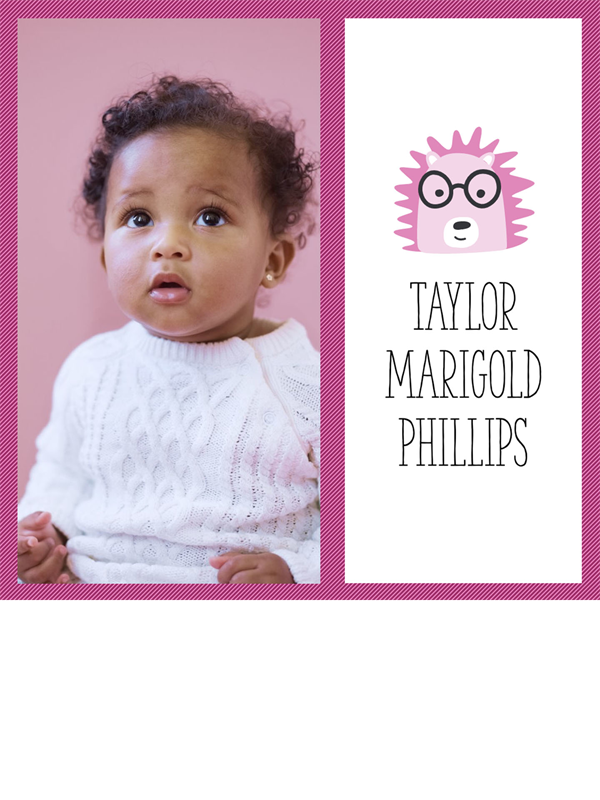 Baby photo collage album