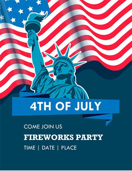 Lady Liberty Fourth of July flyer