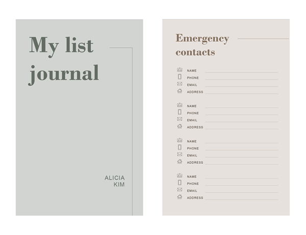 List journal