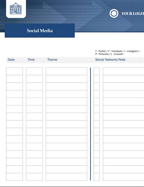 Small business content calendar