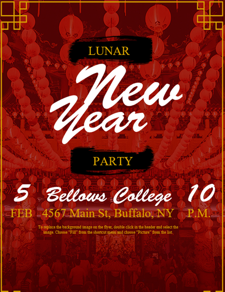 Lunar New Year event flyer