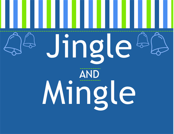 Jingle and mingle holiday invitation